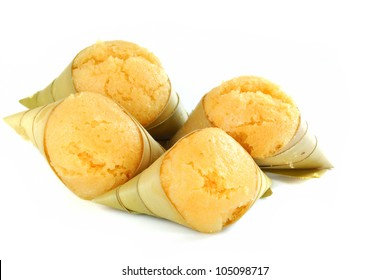 Thai dessert ,Product from sugar palm in isolate white background