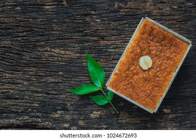 Thai Dessert Sweet Custard or Khanom Mo Kaeng or Morkang