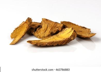 Thai dried herb and medicinal plant, Coscinium usitatum(Goetgh.)