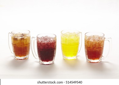 Thai drinks selection of hot and cold tea and coffee and herbal