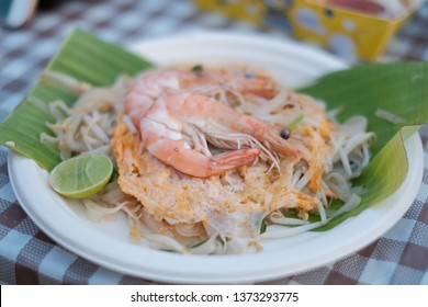 Thai famous food Padthai. Padthai is the Most popular Fried Noodle Thai Street Food.