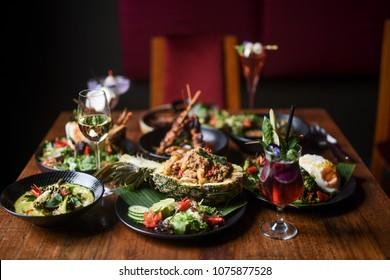 Thai Feast - Sharing Dishes at Thai Restaurant
