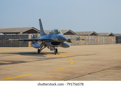 Thai Fighter Aircraft about to take off from the Military Airport in Northern Thai Base