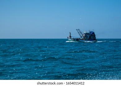 Thai fishing boat at Phangnga Bay, Thailand