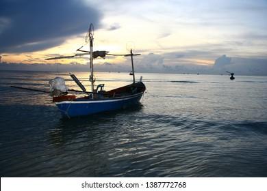 Thai fishing boats in the sea