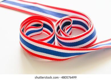 Thai flag ribbin. Thai flag ribbon pattern, Ribbon textures Thai flag. Thai ribbon pattern