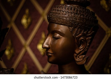 Thai folk dancer rama stone thailand people buddha aisa siam  DOF close up shot