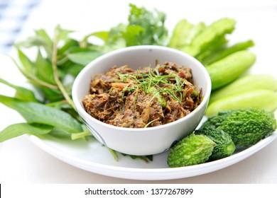 Thai food called Nam Prik