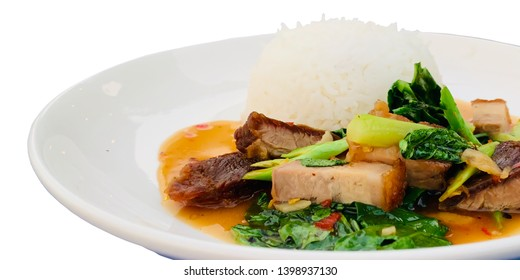 Chinese Kale Stir Fry with Pork Images, Stock Photos