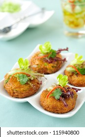 Thai Food Fried Fish Cake (Tod Mun Pla)