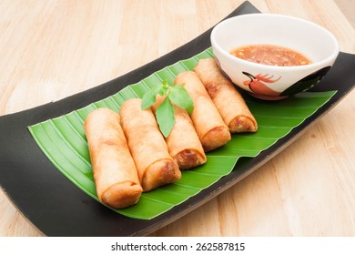 "Thai Food  Fried spring roll , Thai name "" Por Pia Tord """