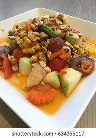 Thai food fruits salad