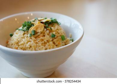 Thai food, garlic fried rice