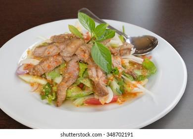 Thai food - Grilled beef spicy salad