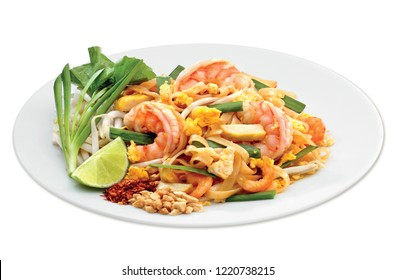 Thai food isolated on white background