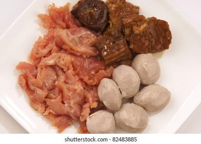 Thai food meat set