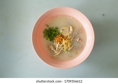 Thai food, noodles, vermicelli, porridge, sticky rice, sticky rice, curry soup, congee porridge