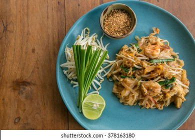 Thai food Pad thai , Stir fry noodles with pork