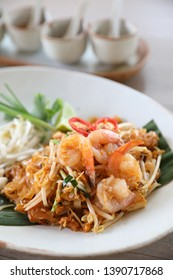 Thai food padthai fried noodle with shrimp , local food