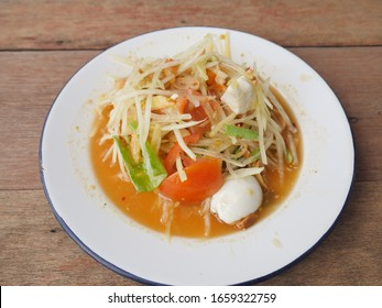 Thai food, papaya salad with eggs