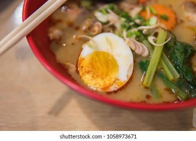 Thai food Ramen noodle tomyam in thailand.