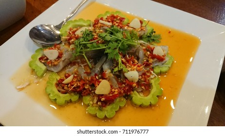 Thai Food - Raw Shrimp in Spicy Sauce