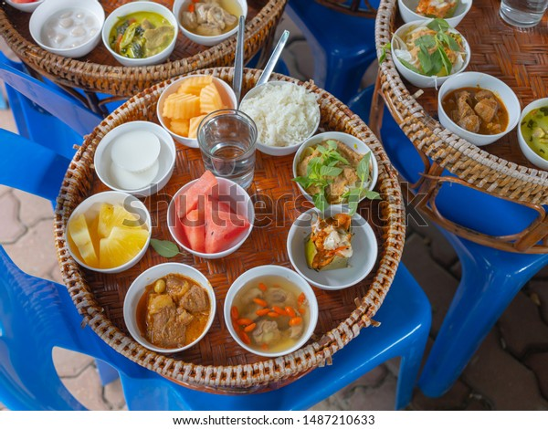 Thai Food Set Including Steamed Rice Stock Photo Edit Now