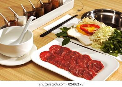 Thai Food Set on Table