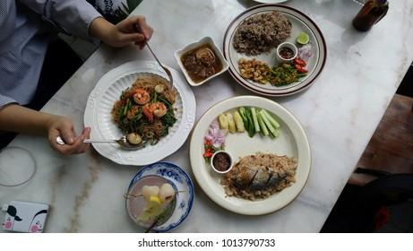 Thai food in shady shop