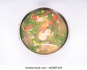 Thai food : Tom yam kung , spicy shrimp soup