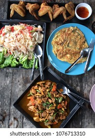 thai food top view