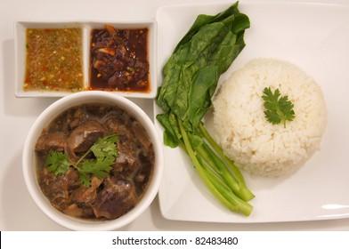 Thai food top view