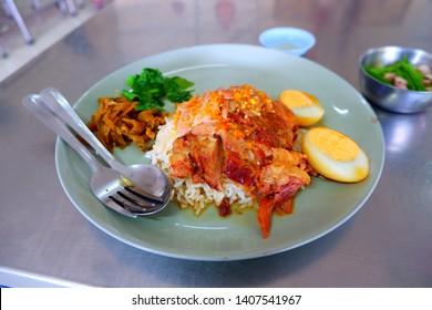 Thai food,Thai Pork Leg Stew Recipe (Kao Ka Moo)