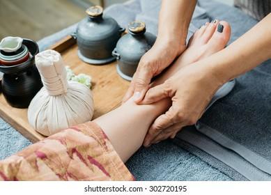 Thai foot massage series