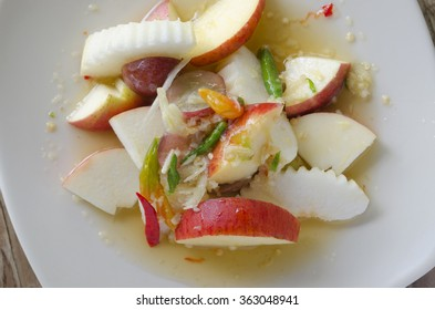 Thai fruit spicy salad.