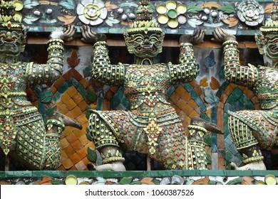 Thai furniture in a buddhist temple