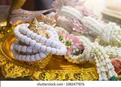 thai garland in thai wedding ceremony