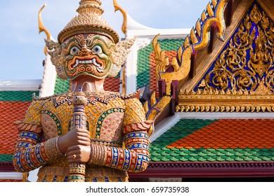 Thai god, mythical creature, Thailand Grand Palace
