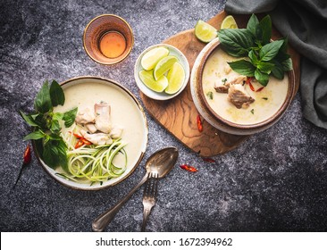 Thai Green curry with Fish and Zucchini Spaghetti