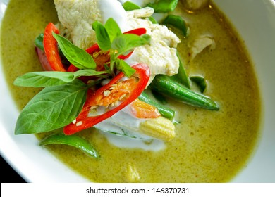 Thai green curry intense soup