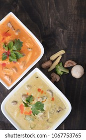 Thai green and red curry