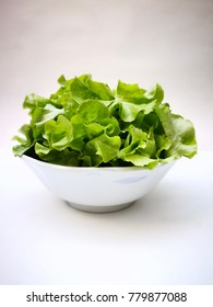 Thai green salad in the white blow