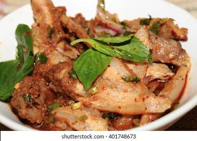 Thai grilled pork salad