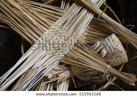 Thai Handicraft Products Rattan Bamboo Stock Photo Edit Now