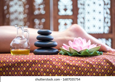 Thai herb aroma oil for foot massage and spa
