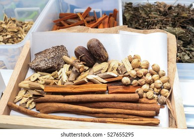 Thai herb and china herb dry for alternative medicine drug.