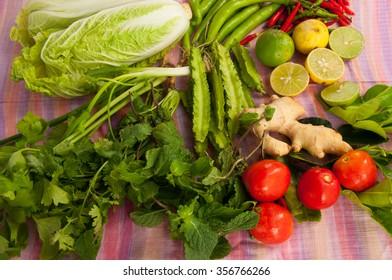 Thai herb and Thai vegetable