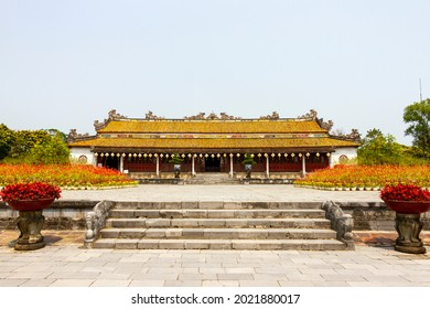 Thai Hoa Palace In Hue Imperial Citadel. Thai Hoa Palace Was A Symbol Of The Nguyen Dynasty, The Last Dynasty Of Vietnam
