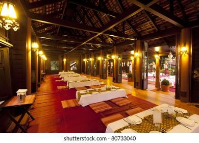 thai house on night