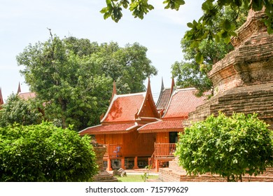 thai house  in the temple
